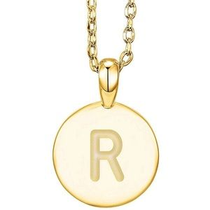✨14K YELLOW GOLD Name Initial Necklace • |R | *NWT